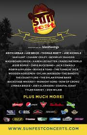 Sunfest Country Music Festival Announces Full Lineup For 2015 A