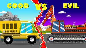 100 Dump Trucks Videos Truck War Good Vs Evil Scary Street Vehicles For