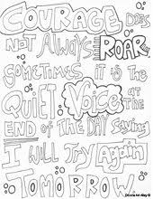 Free Printable Courage Quotes Coloring Pages From Doodle Art Alley