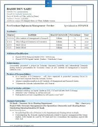 Sample Resume For Computer Science Student Fresher Of A Beautiful Format