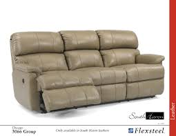 Flexsteel Power Reclining Couch by Flexsteel 3066 Chicago Leather Sofa Group