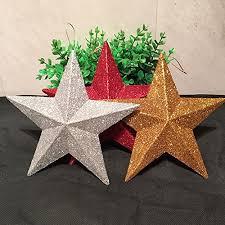 Remeehi Glitter Christmas Tree Stars Topper Star 12 Red