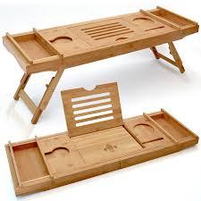 Bamboo Bathtub Caddy With Reading Rack by Shop Amazon Com Bathtub Trays