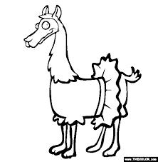 Llama In A Tutu Coloring Page