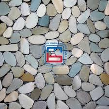 pebble tile pebbles tile island pebble tiles river rock
