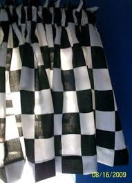 1 set window curtain panels made from nascar black white