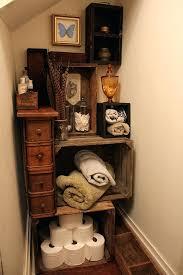 Crate Storage Finished Vintage Bathroom Project Plastic Milk Ideas