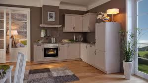 landhaus l küche viktoria wert küche mit front in satinlack sandgrau