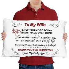 To My Wife Anniversary Gifts Gift For Wife Wife Pillow Etsy