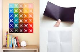 Wall Decoration Ideas With Paper Flower