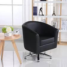 designer leder drehstuhl armsessel für wohnzimmer esszimmer büro oder den empfang 71w x 64d x 77h cm schwarz