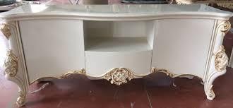 casa padrino luxus barock tv schrank weiß gold handgefertigter fernsehschrank mit 2 türen und schublade barock wohnzimmer möbel