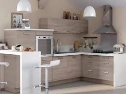 photos cuisine cuisine bois plan de travail blanc castorama cuisine