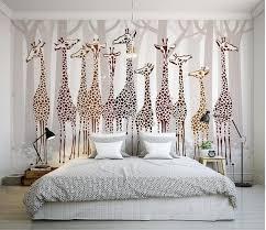 Aliexpress Com Buy Custom 3d Wallpaper Nostalgic Giraffe Mural Including Extraordinary Home Design