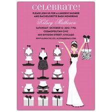 Brunette Bride Lingerie Shower Invitations