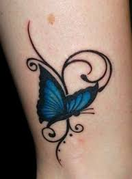 A Blue Butterfly Tattoo