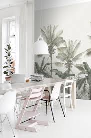 esszimmer fototapete palmen hellbeige und graugrün 158947
