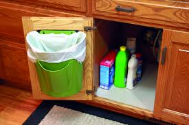 Under Cabinet Trash Can Holder by Bagsavr Innovative Trash Can Recycle Bin That Uses Grocery Bags