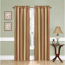 Vertical Striped Curtains Panels by Lush Decor Stripe Blackout Window Curtain Pair Walmart Com