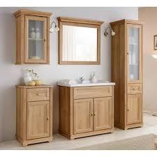 vintage badezimmer hochschrank im landhausstil celaya 56 holzoptik eiche nb b x h x t ca 48 x 190 x 43cm
