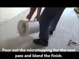 how to resurface floors using a concrete microtopping youtube