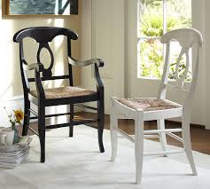 Pottery Barn Aaron Upholstered Chair by Napoleon Rush Seat Chair Pottery Barn Dining Room Pinterest
