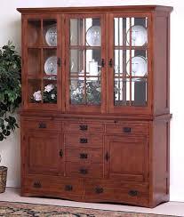 Thomasville Furniture Cherry Mission Style China Cabinet Chairish
