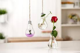 creative light bulb glass vase hydroponic flower vase for home