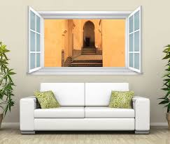 3d wandtattoo fenster treppe ruine beige wand aufkleber wanddurchbruch wandbild wohnzimmer 11bd1725 wandtattoos und leinwandbilder günstig