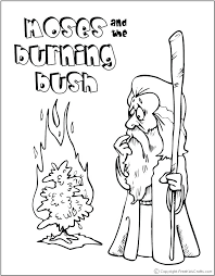 Moses And Burning Bush Colorjpg 708a908 Coloring Pictures Of Bible Preschool