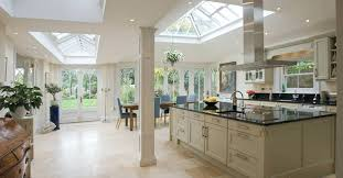Kitchen Conservatory Open Plan With Dining Table