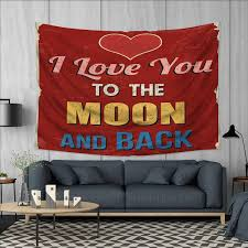 Amazoncom Anhuthree I Love You Wall Tapestry Vintage Style
