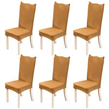 Amazon.com: Jian Ya Na Solid Color Stretch Dining Room Chair Covers ... Sonnis Pack Of 4 Stretch Chair Coverschair Slipcovers Washable Removable Seat Covers Elastic Protector Chairs For Hotel Restaurant Wedding Teresting Chair Cover Chaircovers Make It Subrtex Square Knit Ding Room Good 5 Sherborne Recliner Ipirations No Corner Spandex Banquet Cover Orange Z Mid Century Modern By For Sale Cushions Surprising Faux Leather Fabric Shorty Rooms Budge Neverwet Hillside 49 In H X 28 W 27 D Tan Black And Chairbarstool Jf From Pillowcases Jackiehouchin Home Ideas Instantly Add Flair Style To Your Kitchen Or Ding Room With