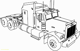 100 Best Semi Truck Coloring Pages Of Tractor Trailer Coloring Pages