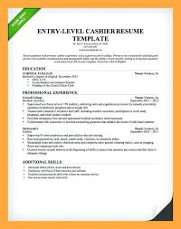 Cashier Resume Template Entry Fast Food Restaurant Examples