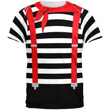 Halloween Maternity Shirts Walmart by Halloween French Mime Costume All Over T Shirt Walmart Com