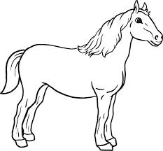 Top Coloring Pages Horses Pefect Color Book De 3153