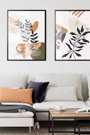 gerahmte premium poster 1 botanischer minimalist 2 vintage