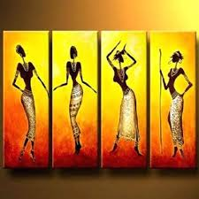 Wall Art Painting Dance Of Girls Modern Canvas Decor Abstract Oil