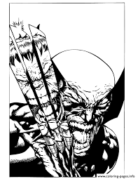X Men Wolverine Fights Incredible Hulk Coloring Pages