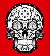 Sugar Skull Pumpkin Pattern by Calacas Or Skeletons Are The Main Feature Of Day Of The Dead