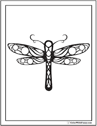 Geometric Dragonfly Coloring Page Perfect Symmetry For Preschool And Kindergarten