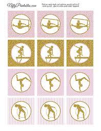 Printable Gymnastics Cupcake Toppers