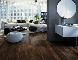 parkett und dielenböden dunkel holz modern wohnzimmer grau