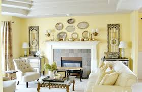 Awesome French Country Living Room Furniture White Fabric Arms Sofa Stone Fireplace Mantel Ceramic