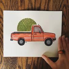 100 Custom Truck Camper Vintage Portrait PickUp Illustration Etsy