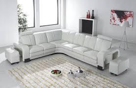 canape cuir angle gauche deco in canape d angle en cuir blanc avec appuie tete