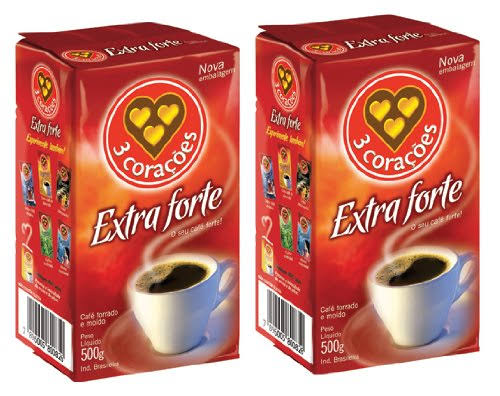 Corazones Extra Forte Brazilian Ground Coffee Vacuum Packed - 500g