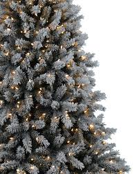 75 Slim Flocked Christmas Tree by Christmas Flocked Christmas Tree Utica Slim Downswept And Prelit