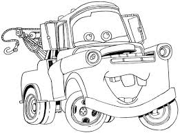 How To Draw Tow Mater From Disney Cars Movie Coloring For AdultsColoring Pages KidsPrintable